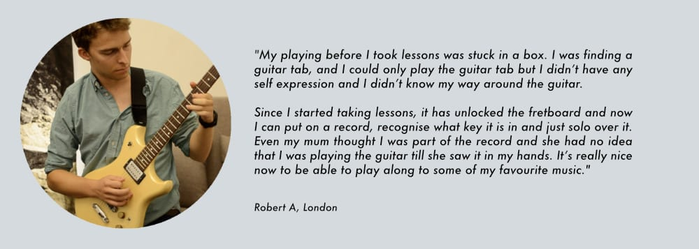 guitar tutor in london