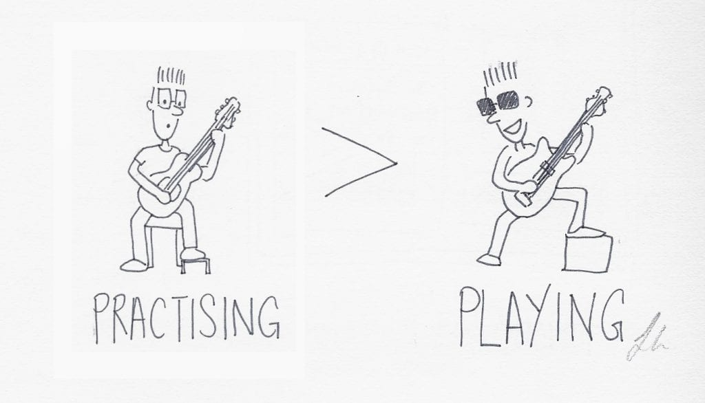 playing vs practising