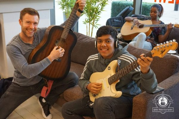 Guitar students at guitar Tuition East London