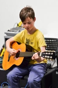 Guitar student at Guitar Tuition East London