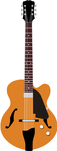 10. semi hollow jazz gibson electric guitar