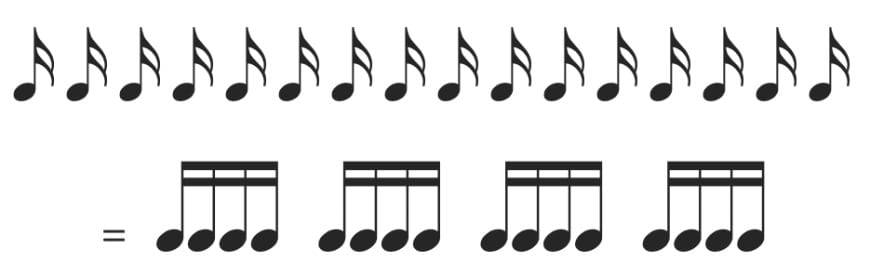 16th notes rhythm reading