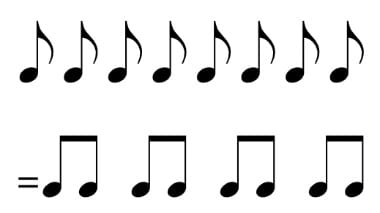 eighth note rhythm