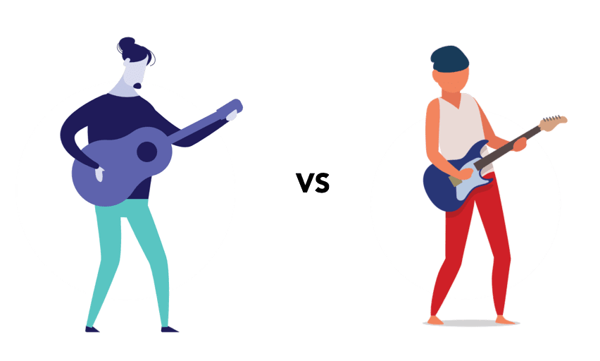 electric guitar vs acoustic guitar for beginners guitar players