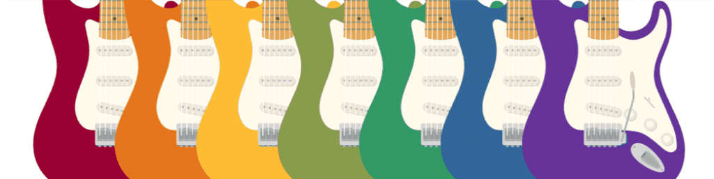 picking colours of electric guitars